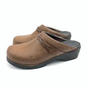 L.L. Bean Leather Slip On Clogs